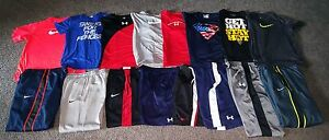 Teen Boys Athletic Lot 16 pcs Nike ~ Under Armour -- Pants Shirts