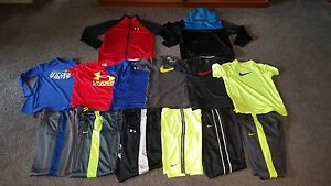 Boys Athletic Lot 14 pcs Nike ~ Under Armour - Pants Shirts Jackets -  sz LXL