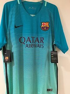 NWT FC Barcelona 1617 3rd Jersey MESSI 10 Sz XL Nike Authentic Dry Fit