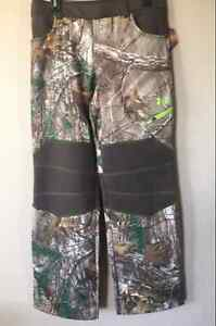 NEW UNDER ARMOUR BOYS CAMOUFLAGE REALTREE COLD GEAR HUNTING PANTS SIZE YOUTH XL