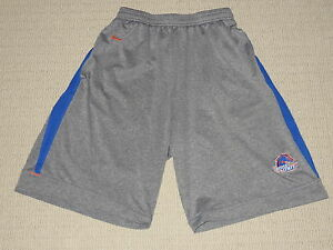 NCAA University of Boise State Broncos Nike Fit Dry Shorts Adult Small Gray Blue