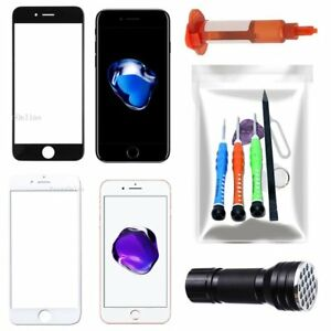 For iPhone 7 7 Plus Front Screen Glass Lens Replacement Repair Kit UV Light Glue