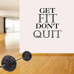 Fitness Wall Decals. Gym. Exercise: Get Fit. Don#x27;t Quit.