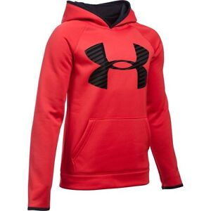 Under Armour Storm Armour Fleece Highlight Big Logo Hoodie - Boys - Red