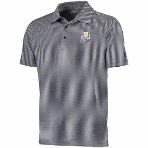 Under Armour NavyGray 2016 Ryder Cup Kirby Heathered Stripe Performance Polo