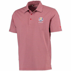 Under Armour RedGray 2016 Ryder Cup Kirby Heathered Stripe Performance Polo