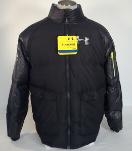 Under Armour Coldgear Storm Black Down Puffer Style Zip Front Jacket Mens NWT