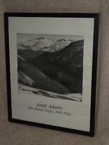 1942 poster for sale lithograph for Ansel adams mural project 1941 to 1942