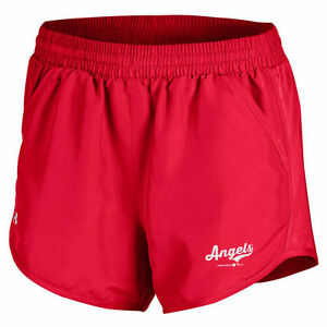 Under Armour Los Angeles Angels of Anaheim Women's Red Fly By Running Shorts