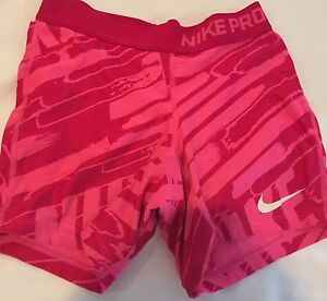 Girls Nike Pro Hot Pink Dry Fit Size M