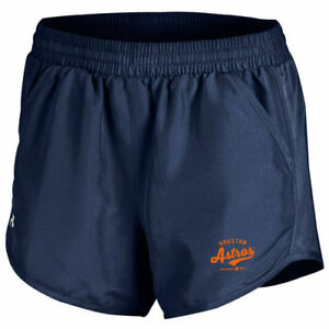 Under Armour Houston Astros Women's Navy Fly By Performance Running Shorts