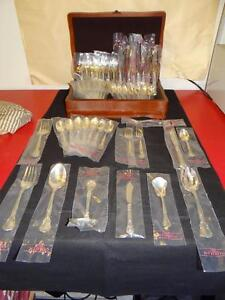 Gorham Chantilly Sterling Silver Flatware 8 Piece Place Setting + Serving KT3997
