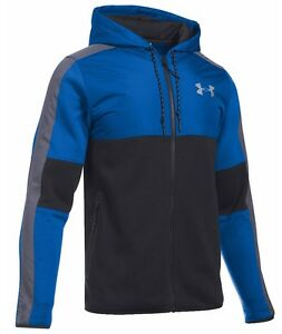 UNDER ARMOUR UA PURSUIT HOODIE FULL ZIP INSULATED MENS ULTRA BLUE