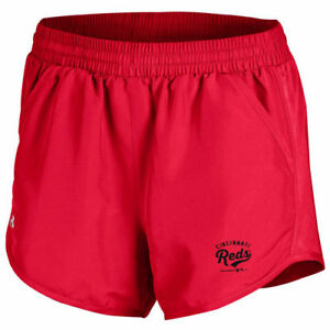Under Armour Cincinnati Reds Women's Red Fly By Performance Running Shorts
