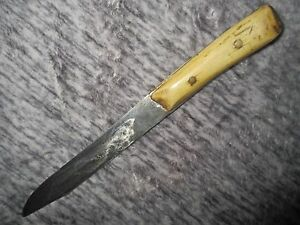 ANTIQUE STAG HANDLE BOWIE DAGGER FIGHTING KNIFE FRONTIER STYLE