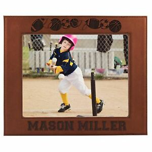 Personalized 4 x 6 Sports Picture Frame - Custom Photo Gift For Athletes Teams