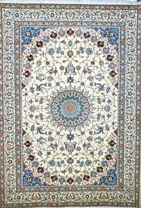 Masterpiece Naeen Nain Persian Rug 8x11 - 6 Line amazing design Vintage Slimi