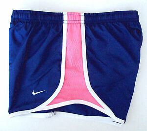 NWT NIKE Cobalt Blue Neon Pink Dri-Fit Running Shorts Youth Girls Medium M 10-12