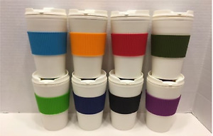Thermal-16 oz-Travel-Coffee-Mug-Cup-Flip-Lid-with-Rubber-Hand-Protector  $5.79