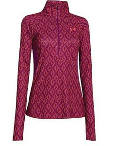 $60 NWT UNDER ARMOUR WOMEN'S ISO-CHILL MERIDIAN 12 ZIP SPORT TOP SHIRT S MULTI