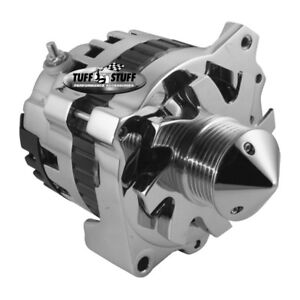 Tuff Stuff Alternator 7866ABULL6G; CS130 160 Amp Chrome w 6G Bullet Nose Pulley
