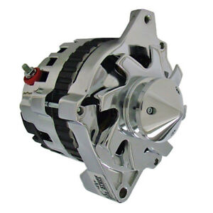 Tuff Stuff Alternator 7935BBULL; CS130 160 Amp Polished w V Bullet Nose Pulley