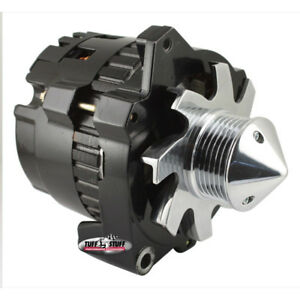 Tuff Stuff Alternator 7861CBULL6G; CS130 160 Amp Black w 6G Bullet Nose Pulley