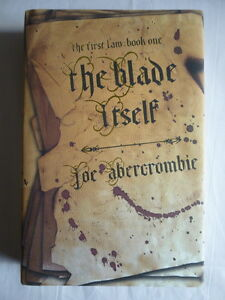 Joe Abercrombie 'The Blade Itself' SIGNED and LINED first edition 1st1st