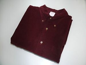 Brooks Brothers Burgundy Solid Button Down Shirt Sport  Size XXL Sale