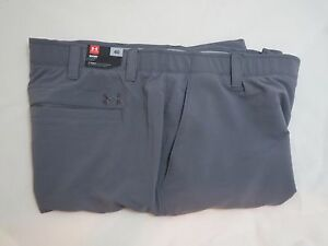 Men's UNDER ARMOUR Size 40 UA Match Play GOLF Shorts Graphite GRAY 1253487 040