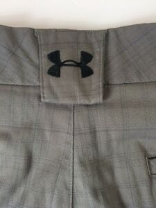 Under Armour Performance Golf Casual Walking Shorts Gray Plaid Men's 34