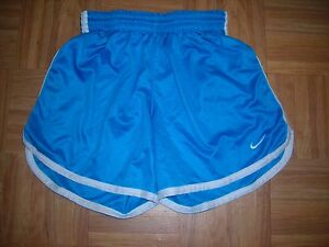 Girls NIKE FIT DRY XL 1416 TURQUOISE Poly Sport SHORTS Elastic Drawstring Waist