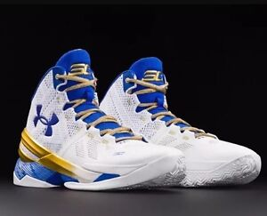 Under Armour Curry 2 Two Gold Rings Shoes Size 8.5 Stephen Curry NEW NIB DS