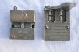Lyman mold blocks for 35891 a wadcutter for 38 special or 357 mag double cavity