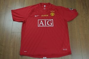 Manchester United Nike Dri Fit Jersey Red Shirt Kit Moscow 2008 Champions League