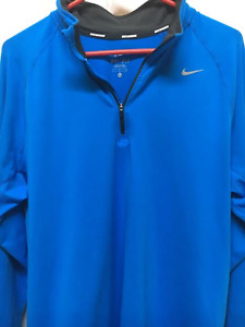 NWT Men's Nike Running Gray 14 Zip Pullover Shirt Size Large Dri-Fit