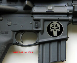 3D Metal 2nd Amendment Rifle Gun Sticker Emblem NRA Decal 1.25