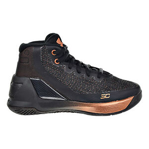 Underarmour Curry 3 ASW Little Kid's Shoes Black Silver Copper 1303609 001 $69.95
