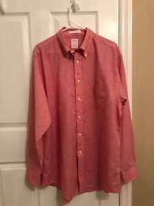 Brooks Brothers Red Madison Fit Houndstooth Sport Shirt new without tags
