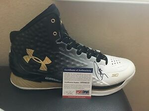 Stephen Curry autographed Size13 2014-15 MVP Under Armour shoe PSA Authenticated