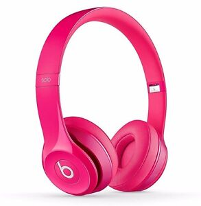 Beats Dr Dre SOLO2 WIRED ON-EAR HEADPHONE B0518 PK Fine Tune Sounds w Mic PINK