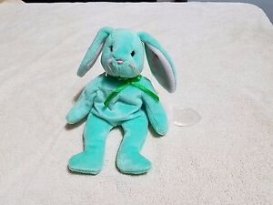 TY BEANIE BABY HIPPITY 1996 Extremely Rare Under-inked Misprint With Errors