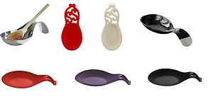 SPOON REST HOLDER KITCHEN COOKING UTENSIL-STAINLESS STEEL,CAST IRON,SILICONE
