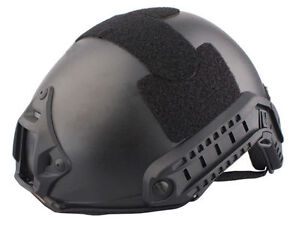 Tactical Fast Helmet MH Airsoft Military NVG Mount Goggles Visor Black