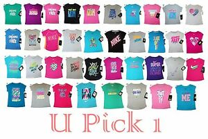 Nike T Shirt Girls Little Tee Top Athletic Sports Cute Saying Short Sleeve