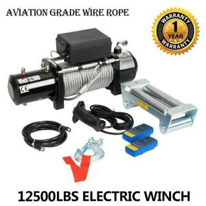 2019 Newest 12500lbs-12v Electric Winch for Truck, Trailer SUV Wireless Remote