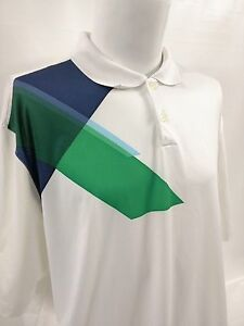 Nike Golf Tour Performance Dri-Fit Mens Graphic Green Blue Polo Shirt Size XXL