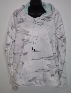 Under Armour Women's White Camo Hoodie Large