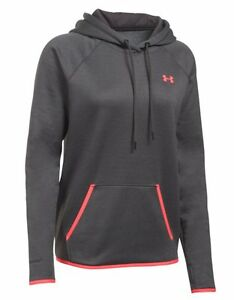 Under Armour Storm Armour Fleece Hoodie - Womens - Carbon HeatherPink