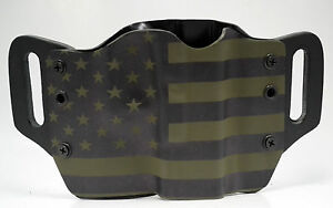 Green amp; Black USA OWB Kydex Holster For 1911 Beretta Bersa amp; Browning $38.24